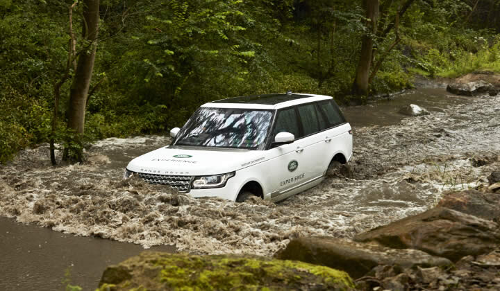 A view of the Land Rover Experience Centre in the Yorkshire Dales